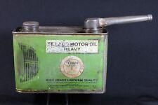 TEXACO Heavy Motor Oil Rectangular Tin Can - Port Arthur, Texas