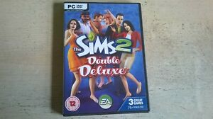 THE SIMS 2 DOUBLE DELUXE - BASE PC GAME & 2 EXPANSIONS - FAST POST - COMPLETE