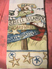 1 whole BEACH SHELL ISLAND~starfish KITCHEN~BATH~SHOP~COTTAGE quality HAND TOWEL