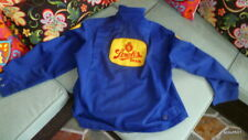 Vintage 1970s Stroh's Beer Blue Polyester Delivery Jacket Bank On Banko