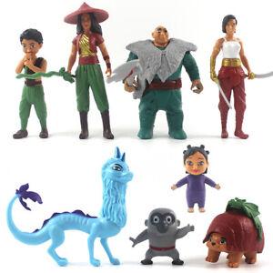 Raya And The Last Dragon Raya Dragon 8PCS Action Figure Toy Doll Gift For Kids