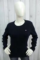 RALPH LAUREN Donna Taglia M Blu Maglione Cotone Sweater Pull Pullover Maglietta