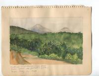VINTAGE 1930's CALIFORNIA MOUNT ONTARIO & CUCAMONGO JOHNSON'S PASTURE PAINTING