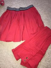 Gymboree girls Mod About Orange Leggings Pants Pleated Skirt 10