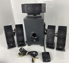 Logitech X-540 5.1 Surround Sound Speaker System + Subwoofer - Excellent Sound!