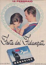 Pubblicità anni 60 PERUGINA cioccolato baci san valentino 1961