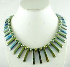41pcs Beautiful Titanium Hematite pendant Gemstone beads Handmade necklace c2