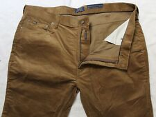 Polo Ralph Lauren Big and Tall Mens Brown 5-Pocket Corduroy Jeans NWT 46 B x 30