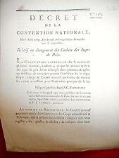 202 LOI & DECRET CONVENTION NATIONALE 1793 LES CACHET DES JUGES DE PAIX