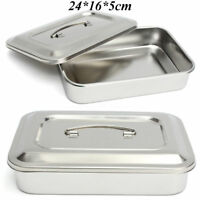 Stainless Steel Instrument Medical Surgical Tray Dental Dish Lab Tool 24cmx16cm