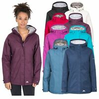 Trespass Womens Waterproof Jacket Windproof Hooded Rain Coat For Ladies