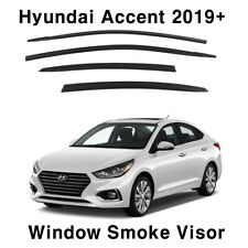 Smoke Window Vent Visors Sun Rain Guard Deflector 4Pcs for Hyundai Accent 2019+