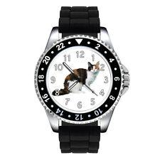 Tortoiseshell LaPerm Cat Unisex Mens Womens Silicone Band Wrist Watch Se144