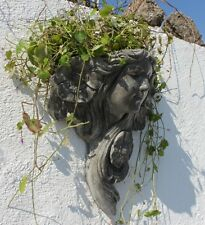 Art Nouveau Flower Lady Planter Stone Garden Ornament Flower Pot Wall Decor Gift