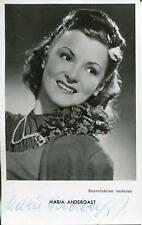 MARIA ANDERGAST GERMAN ACTRESS IN MORE THAN 60 FILMS SIGNED PHOTO AUTOGRAPH