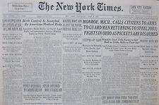6-1937 June 9 REBELS OPEN DRIVE IN CORDOBA REGION, SPAIN CIVIL WAR BILBAO MADRID