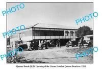OLD LARGE PHOTO QUEENS BEACH QUEENSLAND OPENING OZONE HOTEL c1926