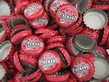 100 Red Fireman's Brew  Beer Bottle Caps (No Dents). Free Shipping