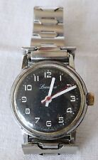 Vintage Lucerne Mechanical Mens SWISS MADE Old Watch - black dial