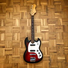 Sakai / Teisco SG-style vintage e-guitar (made in Japan in 1960s). Red sunburst!