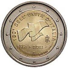 "ITALIA ITALY ITALIEN 2 € EURO 2011  "" UNITA' D'ITALIA "" FDC BU ST DA ROTOLINO"