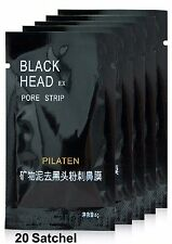 20X PILATEN BLACKHEAD REMOVER Face Mask Pore Cleansing Black Heads Strip Nose A+