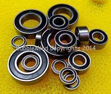 (BLACK) TRAXXAS E-REVO / REVO 3.3 PLATINUM Metal Rubber Sealed Ball Bearing Set