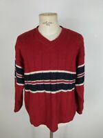 ELLESSE VINTAGE Maglione in LANA Sweater Jumper Pullover Tg XL Uomo Man
