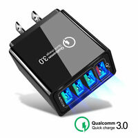 4 Port USB Quick Charger QC 3.0 Fast Wall Charger For Samsung A50 A30 iPhone 7 8