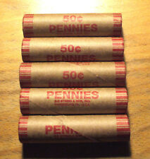 5 - 1973-P Uncirculated LINCOLN CENT ROLLs - 5 Rolls