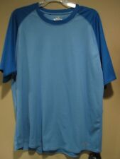 Russell Dri-Power Two Tone Blue Workout T-Shirt Tee Athletic Breatheable L Large