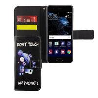 Huawei P10 Funda Estuche Móvil Protector Flip Paragolpes Negra