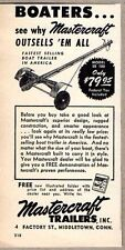 1952 Print Ad Mastercraft Boat Trailers Outsell's Em All Middletown,CT