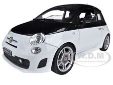 FIAT ABARTH 500 WHITE/BLACK 1/18 DIECAST CAR MODEL BY MOTORMAX 79168