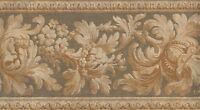 Wallpaper Border Traditional Gold Floral On Sage