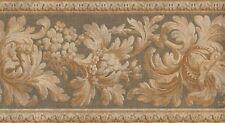 Wallpaper Border Traditional Gold Floral On Sage