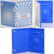 100 Custodie DVD Singole Azzurre - DVD BOX Blu per 1 DVD/CD Spedizione Gratuita!