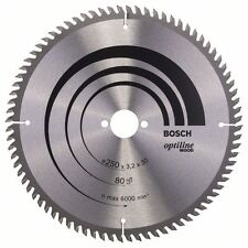 Bosch Optiline Circular Saw Blade for Bench saws 250x30x3.2mm 80T 2608640660
