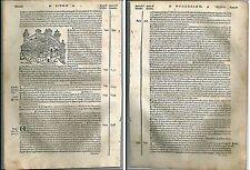 1535 EDESSA Ūrhāy Uruk Şanlıurfa Warka Turkey veduta Bergomensis xilografia