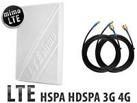 Directional 4G LTE MIMO 3G External Antenna Huawei B315 B310 B593 B525 E5186 SMA