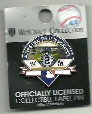Derek Jeter Officially Licensed Collectible Label Pin Final Series in Milwaukee!