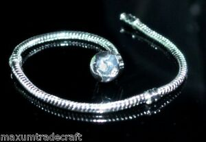 A clip silver colour snake charm bracelet chains 20cm, 21cm and 22cm