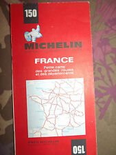 carte michelin 150 france petite carte des grandes routes 1971