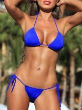 Ensemble bikini string taille S / M / L / XL -Hot sexy blue bikini set swimwear