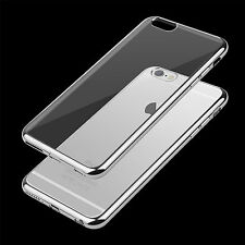 Shockproof Clear Soft Silicone TPU Case Cover for iPhone 7 /Plus+Glass Protector