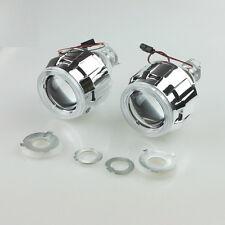 "2x 2.5"" Mini HID Bi-xenon Projector len H4 H7 Kit angel halo Groove shroud"