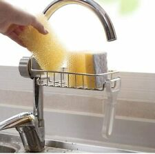 Stainless Steel Faucet Sponge Holder Storage Rack Hanging Sink Organizer Kitchen
