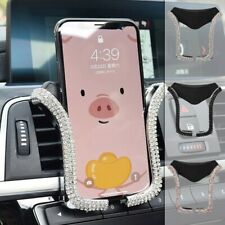 Universal Car Phone Holder Mount Bing Crystal Holder Rhinestone Air Vent Clip