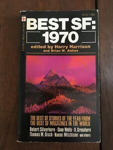 Best SF 1970 Ed. by Harry Harrison & Brian W Aldiss Vintage PB Paperback Sci Fi