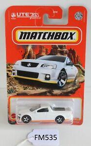Matchbox MBX 2008 Holden VE UTE SSV White 64/100 Bad Cards FNQHotwheels FM535